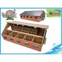 Stáje pro koně dřevěné 62x42,5x22cm 1:32 v krabičce