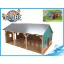 Garáž dřevěná 55x77,5x38cm pro 3traktory 1:16 v krabičce