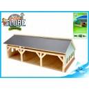 Garáž dřevěná 17x30x12cm pro traktory 1:87 v krabičce