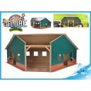 Garáž/farma dřevěná 38 x 100 x 38 cm 1:16 v krabičce
