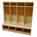 Šatní skříň Basic 4-místná, 119x130x54 cm