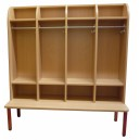 Šatní skříň Classic 4-místná, 119x130x50 cm