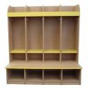 Šatní skříň Standard 4-místná, 119x130x55 cm