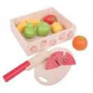 Dřevěné hračky - Ovoce krájené