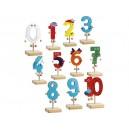 Dřevěné číslice - postavičky