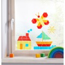 Okenní samolepky - geometrické tvary