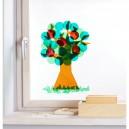 Okenní samolepka - strom 4 roční období