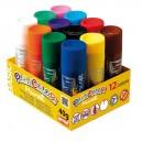 Pevná tempera BASIC - 12 barev po 40g