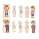 Puzzle Poznej své tělo - chlapeček a holčička