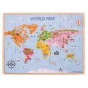 Dřevěné puzzle mapa světa
