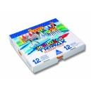 Voskovky 12 barev trojhranné - 300 kusů
