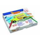 Pastelky Plasticolor 12 barev 300 kusů - šestihranné
