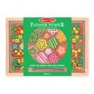 Dřevěné korálky - Květiny