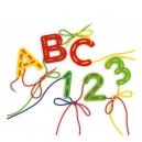 Provlékací souprava s písankou a omalovánkami - Lacing ABC + 123 alphabets and numbers
