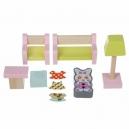 Obývací pokoj - dřevěný nábytek pro panenky