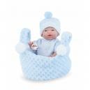 Panenka - koupací miminko New Born chlapeček v košíčku - 21 cm