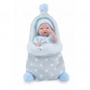 Panenka - koupací miminko New Born chlapeček s fusakem - 21 cm