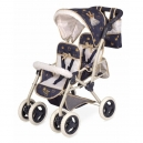 Skládací kočárek pro dvojčata panenky s taškou Classic Gold 2020 - 72 cm