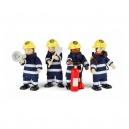 Dřevěné postavičky hasičů
