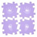 Ortopedická podlaha - Stopy fialová barva