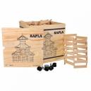 KAPLA 1000 v dřevěném boxu na kolečkách + 2 sešity nápadů