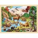 Divočina severní Ameriky – puzzle, 96 dílů