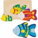 Vícevrstvé puzzle – Ryba, 11 dílů