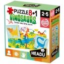 Puzzle 8+1 Dinosauři