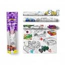 Malovací ubrusy 3ks -  Auta