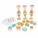 Malí přátelé - dřevěná balanční hra s předlohami 33 dílů