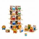 Zvířecí věž – dřevěná herní sada