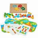 Mozaika a vyšívání – dřevěný herní set s předlohami