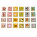 Zvířátka - dřevěné dětské pexeso 24 kartiček