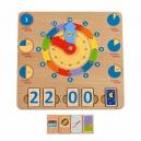 Učíme se hodiny – dřevěná naučná hrací deska