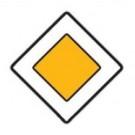 Dopravní značka - Hlavní pozemní komunikace