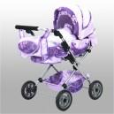 Kočárek trojkombinace pro panenky - fialový