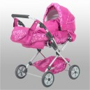 Kočárek trojkombinace pro panenky - růžový