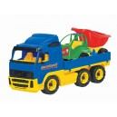 Dětské auto plastové plošinové + Auto 45.5cm