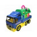 Dětské auto plastové plošinové + Domek pro zvířata 45cm