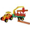 Dětský plastový traktor Mistr s kládami 46cm