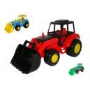 Dětský plastový traktor s lopatou