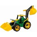 Traktor se lžící a bagrem - zeleno žlutý