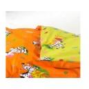 Bavlněné Dvoubarevné povlečení Zebra - zelenooranžové