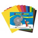 Kreslící karton - jednotlivé barvy  A4/180g/50ks