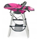 Vysoká židle pro panenky - Dots Navy-Pink