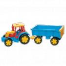 Gigant traktor s vlekem