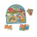 Dřevěné vícevrstvé Puzzle - Farma