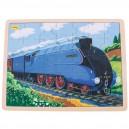 Dřevěné puzzle - historický vlak Mallard 35 dílků