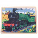 Dřevěné puzzle - historický vlak Flying Scotsman 35 dílků