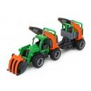 Traktor GripTruck nakladač s návěsem pro přepravu zvířat